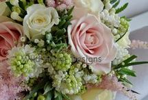 Our work - Brides & Bridesmaids flowers / Brides & Bridesmaids flowers designed and created by Wild floral designs.