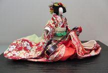 Washi paper doll & Kimekomi doll
