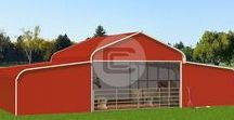Metal Horse Barns / Metal Horse Barns provide affordable protection to your horses. These Barn Buildings are created with best quality steel and work great for different types of applications such as agricultural, commercial or storage needs.