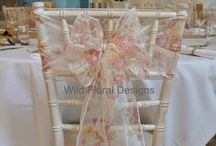 Our work - Venue dressing / Venue dressing, chair cover, sash hire and table designs by Wild Floral Designs.