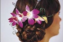 Hairstyle with Orchids / Many ways to add tropical orchids to any hairstyle