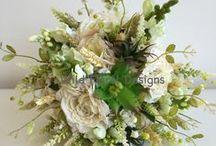 Silk / Artificial / Alternative wedding flowers UK / Beautiful silk / artificial / Alternative wedding flowers created by Wild Floral Designs Devon UK