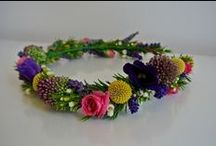 Floral crowns / Buttonholes / Corsages / Hair flowers / Floral crowns, buttonholes and corsages designed and created by Wild floral designs.