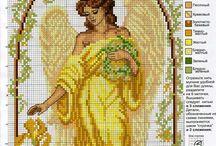Ангелы схемы крестиком