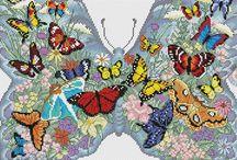 Бабочки схемы крестиком