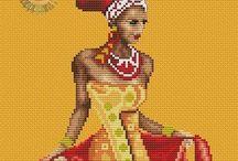 Африканские мотивы крестиком