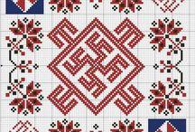 Руны , славянские обережные символы схемы крестиком