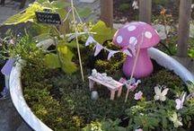 Fairy Gardens / Fairy Gardens, How To Make A Fairy Garden, Fairy Garden Ideas, Miniatures, Miniature Gardens, Miniature Garden Ideas, Miniature Fairy Gardens, Miniature Container Gardens, How To Make Miniature Fairy Gardens, Fairy Garden DIY, Fairy Garden Inspiration