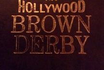 Hats in Film - Hollywood Brown Derby / Opened on Valentine's Day, 1929 at the corner of Hollywood and Vine, The Hollywood Brown Derby was the branch that played the greater part in Hollywood history. Due to its proximity to movie studios, it became the place to do deals and be seen.