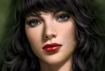 Fantasy : Portrait : Black Hair : Female