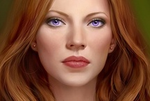 Fantasy : Portrait : Orange Hair : Female