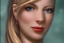 Fantasy : Portrait : Blond Hair : Female