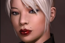 Fantasy : Portrait : White Hair : Female