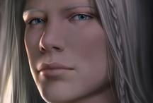 Fantasy : Portrait : White Hair : Male