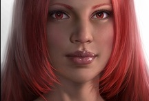 Fantasy : Portrait : Red Hair : Female