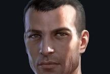 Fantasy : Portrait : Black Hair : Male