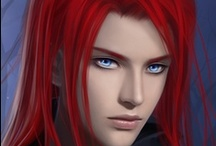 Fantasy : Portrait : Red Hair : Male