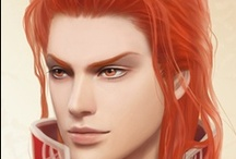 Fantasy : Portrait : Orange Hair : Male