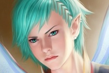 Fantasy : Portrait : Mint Hair : Female