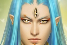 Fantasy : Portrait : Teal Hair : Male