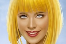 Fantasy : Portrait : Yellow Hair : Female