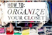 Organizing Wardrobes / Here you'll find ideas to become a more organized person and also a more stylish one!
