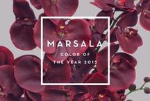 Marsala 2015 / Get your inspiration regarding color of the year 2015 - Marsala