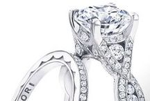 Tacori Engagement Rings & Wedding Bands / Tacori engagement rings and wedding bands featuring princess cut engagement rings, oval engagement rings, pear shaped engagement rings, and round engagement rings. Tacori engagement rings in rose gold, silver, white gold, yellow gold and more.