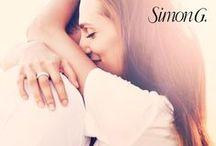 Simon G Engagement Rings & Wedding Bands / Beautiful Simon G engagement rings and wedding bands. White gold engagement rings. White and rose gold engagement rings. White and yellow gold engagement rings.