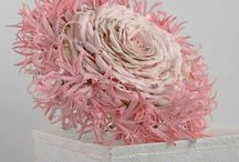 Design Element Flowers / Beautiful wedding bouquet created with sweet avalanche roses and Nerines