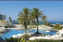 4 Star Louis Imperial Beach Hotel in Paphos Cyprus / Surrounded by exotic gardens and only a few steps from the azure blue Mediterranean waters this 4 Star hotel in Paphos invites you and your family or friends to experience a truly relaxing Paphos Cyprus holiday. / by Louis Hotels