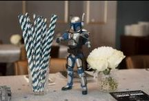 Star Wars Groom Shower / A quirky afternoon of the couple's closest and dearest to celebrate the lucky groom. Featuring a Star Wars themed setting of Navy and White tablescapes. Event Concept, Design & Styling by www.mint-events.com