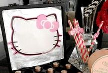 Hello Kitty Party / Black • White • Fuchsia Pink • Silver • Bows | Event Concept, Design & Styling by www.mint-events.com |