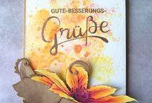 Get well soon cards / Gute Besserung Karten