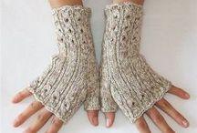 rukavičky / pletená, háčkované rukavice