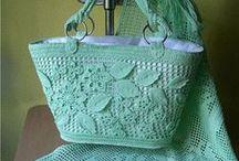 torby, torebki / torby, torebki, kosmetyczki - szyte szydełkowe itp.
