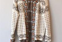 Strikket kofter og gensere / Ideer på mønster