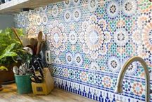 Tiles - how cool can our house get? / Adding tiles to the kitchen or bathroom where they are most commonly used brings such colour to it. They also shine too (if you clean them)