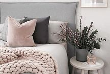 Blush & Grey - Trend of 2017 / A big trend this year and you can bring copper which is another key trend into it as well. Here are some ideas for your home.