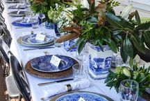 Blue & White Chinoiserie Chic / Blue & White china pattern is making a comeback! It's not just for the older generations with tonnes of tea sets in cupboards... Here is how to incorporate the look into your home.