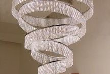 Chandeliers - how low can you go?? / Chandeliers are seen as a grand item in the house and very glamorous too. Here are some of lovely ideas for your home.