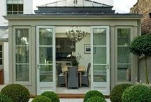 Orangery ideas / Brick or Glass - Orangeries are delightful. They give so much light in and make your house feel so much bigger too. Before you make your big purchase - Have a look at my top pins for Orangery extentions. Here is the inspiration you have been looking for.