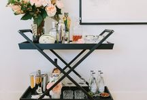 Bar carts - why go out?? / Put the lime in the coconut and drink it all up or... be the hostess with the mostest! Bar carts are coming back and you should find one you like for your home - and quickly! Don't forget the ice.