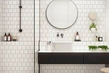 Shower rooms kept simple / Bathrooms are sometimes hard rooms too decorate, shower or bath or both? Double basin unit with cupboard or just the single free standing one? Mosaic tiling or just painted? Here is my pin board for a simple shower room. Hope you find the inspiration you were looking for...