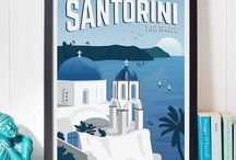 Santorini Simplicity / We can't ship up and move to Santorini so why not bring Santorini to you? Bold blues and white work together so well and make us feel more relaxed in our home. If you don't want to change the colour of your walls why not try just your dinner service?  Or try your conservatory decor and see how you feel! Go the whole way and buy a room fragrance to imagine you are really there too!