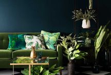 Dark, Darker, Darkest: Dark Green - Trend 2017 / 2018 / Dark Green I hear you cry! Who has dark green in their house? Isn't that for the outdoors?? Like a garden shed... well yes, but it's a big trend for autumn 2017 and it looks so wonderful when put together with the right items and furniture. Look at this board for inspiration and ideas for your home.