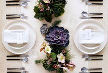 Dinner table settings / Everyone likes a good pinterest worthy dinner table. So here are some fantastic examples for you next get together with your nearest and dearest; whatever the season. Enjoy!