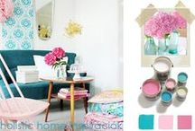 *Aura-Soma & Home Decor* Pink and Turquoise Inspirations