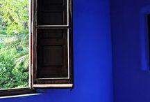*Aura-Soma & Home Decor*Royal Blue and Deep Magenta