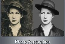 PHOTO RETOUCHING & PHOTO RESTORATION / Old photos always have some unforgettable memories attached to them and everyone wants to preserve them forever. Our Photo Retouching & Photo Restoration Services can help you rebuild & enhance old/damaged images and even preserve them endlessly. We offer you Photo Retouching, Restore Damaged/Torn Images, Beauty Retouching, Skin Retouching, Wrinkle Removal, Fix Flaws in Images, Color the Black and White Photos, Remove Red Eye, Contrast/Exposure/Color Corrections and other Image Enhancements..!!!